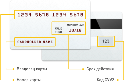 credit card info